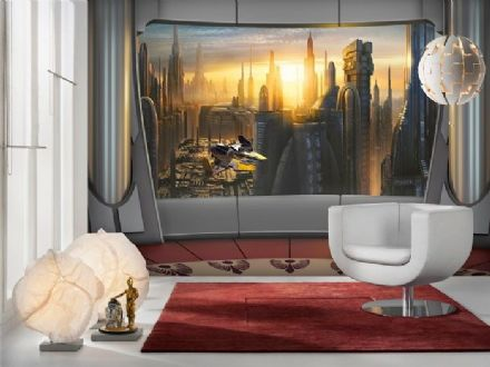 Star Wars Coruscant View wall mural wallpaper